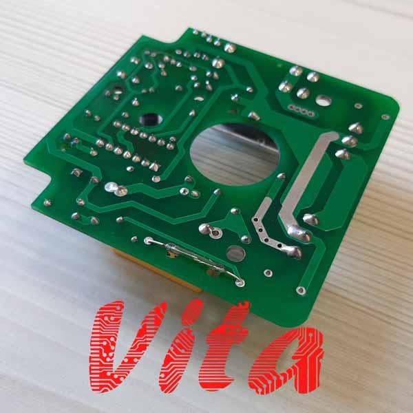 مشخصات، قیمت و خرید برد الکترونیکی ست کنترل پمپ آب مدل PC-19 و A10 - عکس از نمای پشت