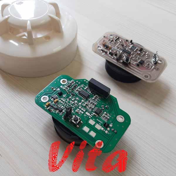 نمونه کار طراحی برد دتکتور دود 4 سیم و 2 سیم طراحی شده توسط گروه ویتا