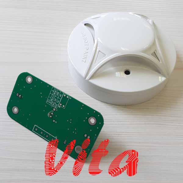 نمونه کار طراحی برد دتکتور حرارتی در سیستم اعلام حریق که توسط گروه مهندسی ویتا طراحی شده است.