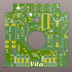 نقشه برد ست کنترل پمپ آب مدل PC-19 که توسط گروه مهندسی ویتا طراحی شده است.